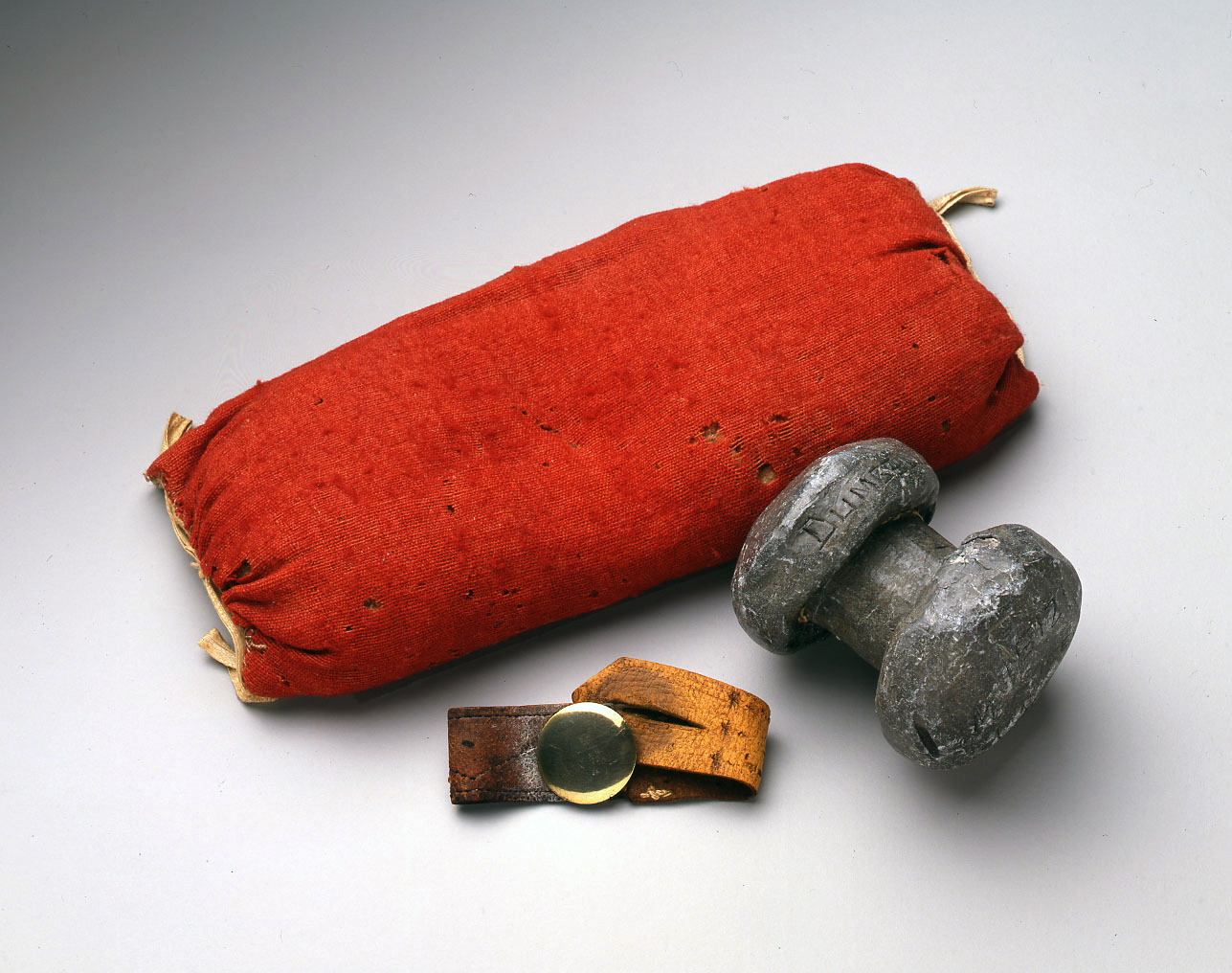 Wrist Cushion, Wrist Strap, and Dumbbell
