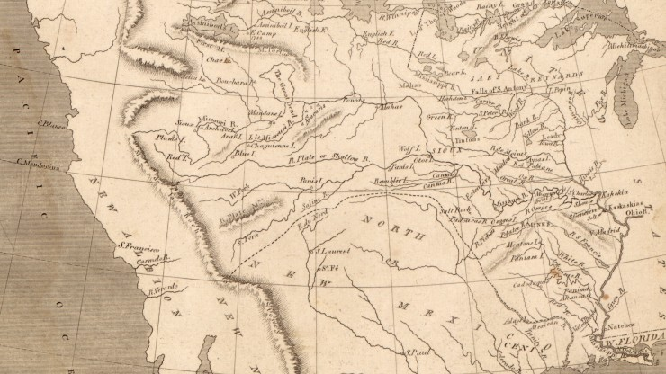 Map Of Texas And Louisiana Border.The Louisiana Purchase Thomas Jefferson S Monticello
