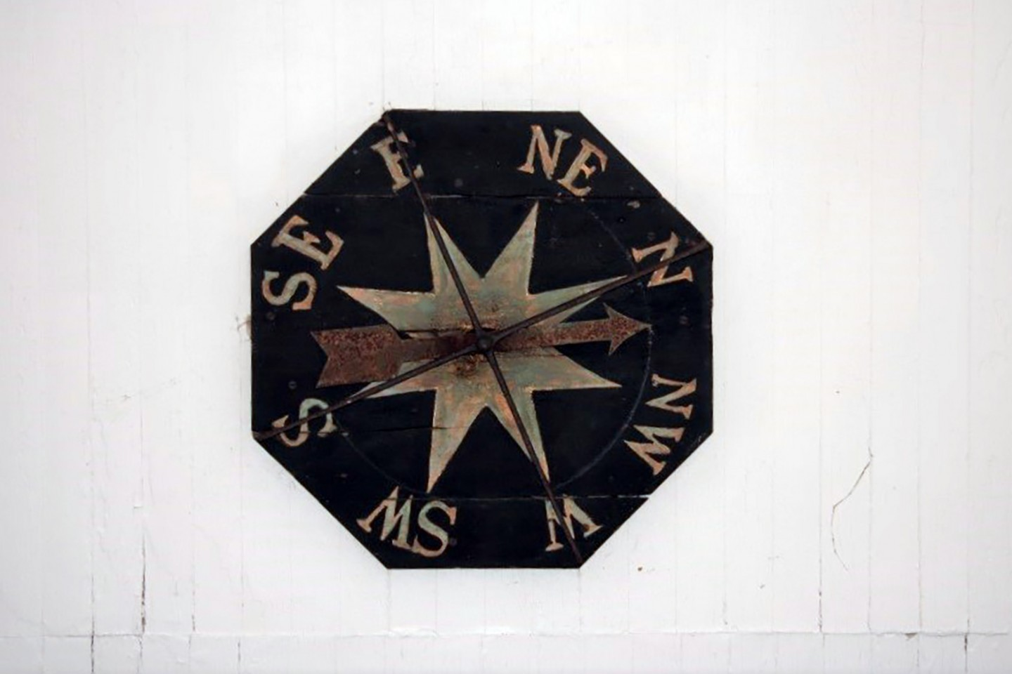 East Portico Compass Rose, before conservation
