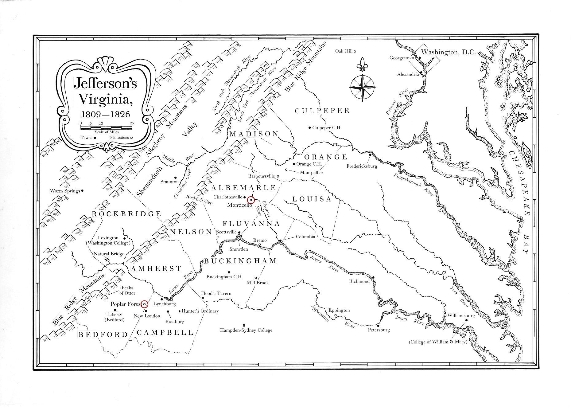 Map of Virginia