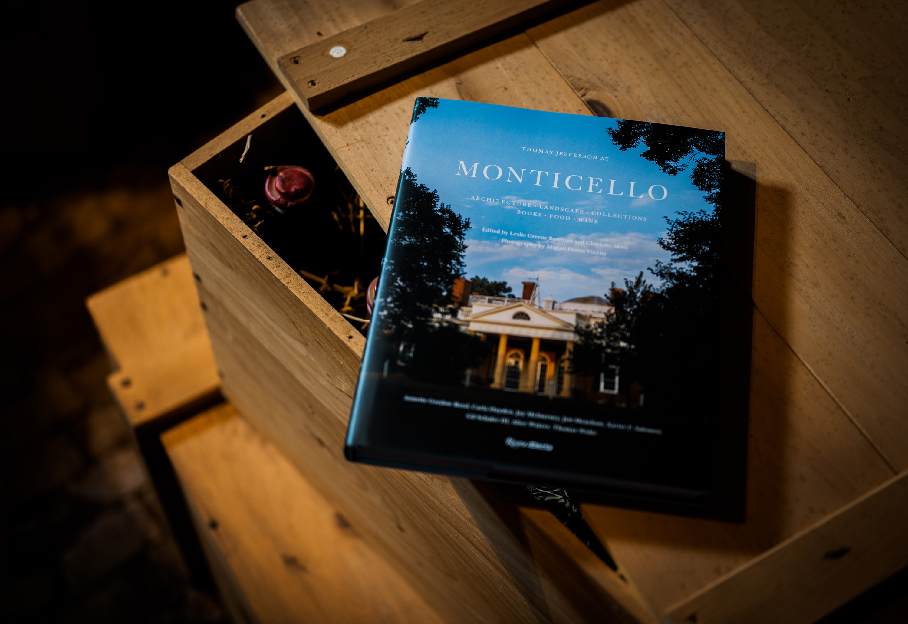 Rizzoli Book on Wine Bottle Crate