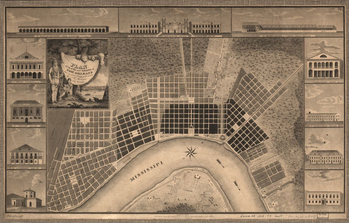 1815 Plan of New Orleans