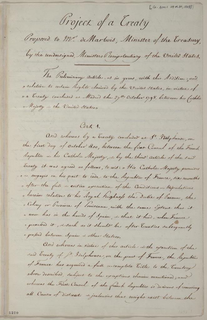 The Louisiana Purchase Treaty