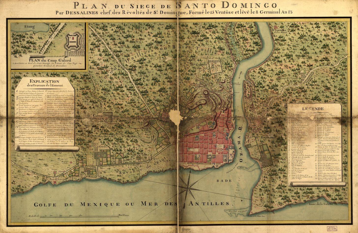 Plan du Siège de Santo Domingo